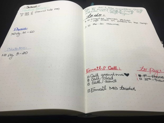 bullet journal august layout setup04
