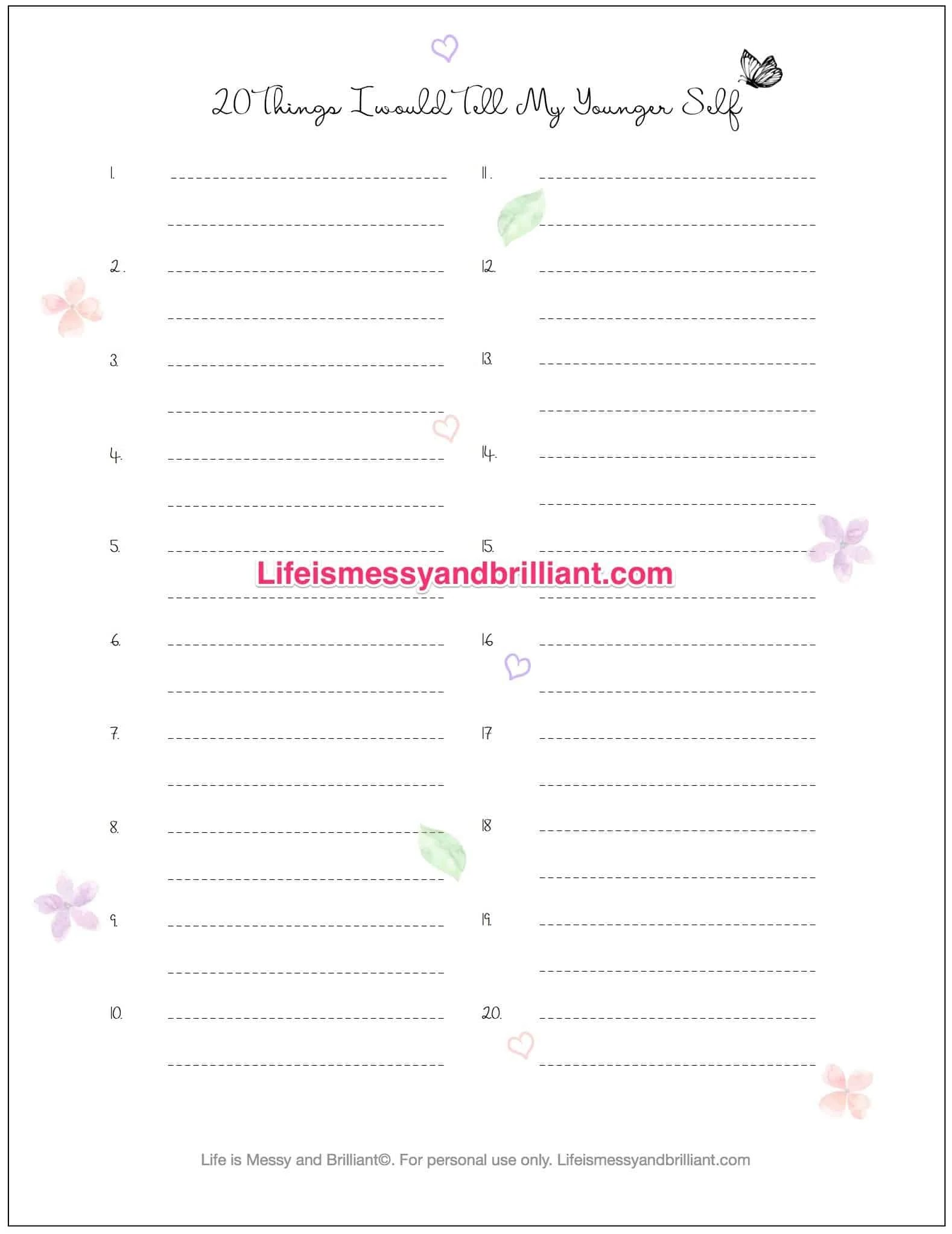 Bullet Journal Self Care Ideas And Printables