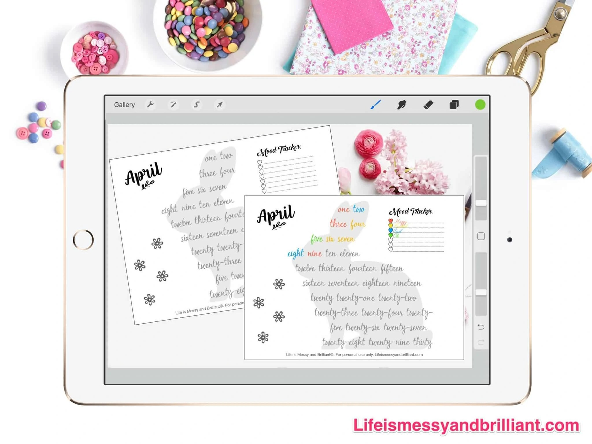 Free April Mood Tracker Printable