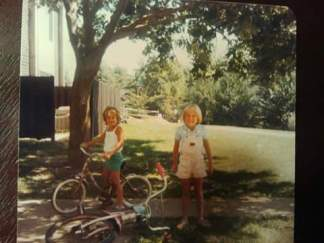 Younger Sister on Left, Me on Right