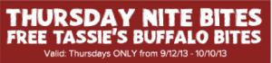 FREE Buffalo Bites at Outback