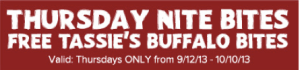 FREE Buffalo Bites at Outback