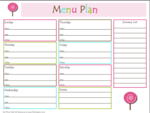 Menu Planning – Saving Time & Money in the Kitchen