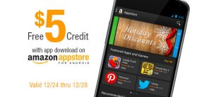 FREE $5.00 Amazon Credit with App Download