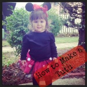 Minnie Mouse No-Sew Tutu Tutorial