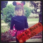 Minnie Mouse No-Sew Tutu Tutorial