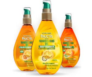 a FREE sample of Garnier Fructis Marvelous Oil