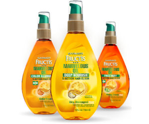a FREE sample of Garnier Fructis Marvelous Oil