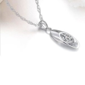 Oval Zircon Pendant & Necklace Now Just $2.49 Shipped!