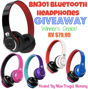 BN301 Bluetooth Headphones Giveaway!