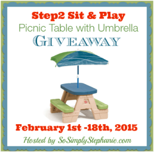 Step2 Sit & Play Picnic Table with Umbrella Giveaway