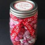 Valentine M&Ms Gift in a Jar