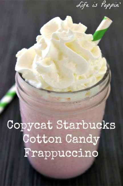 Copycat Starbucks Cotton Candy Frappuccino Final