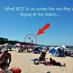 What NOT to do when the red flag is flying at the beach….