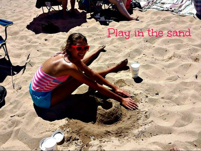 play in the sand