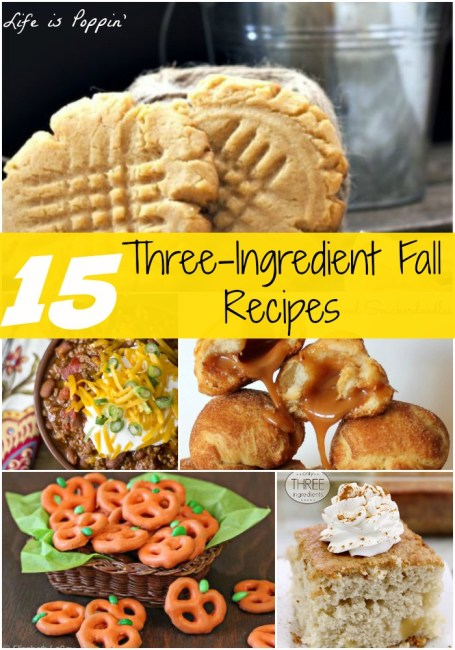 3 Ingredient Fall Recipes