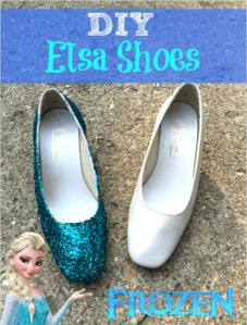 DIY queen Elsa shoes _ halloween