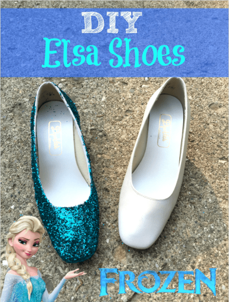 DIY queen Elsa shoes _ halloween