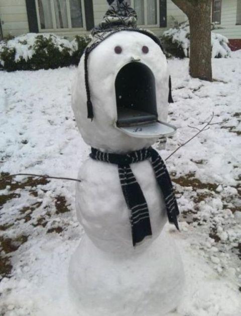 Mailbox Mouth Snowman