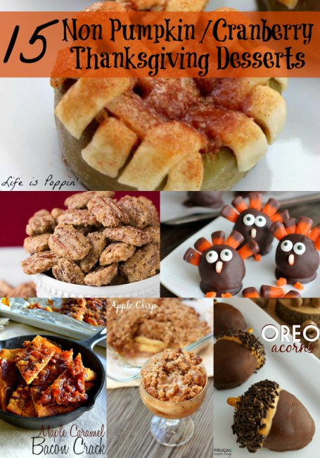 Non Pumpkin Cranberry Thanksgiving Desserts