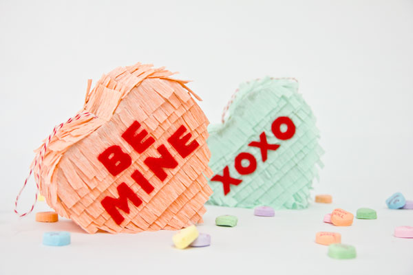 DIY Conversation Heart Pinata