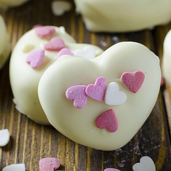 Oreo Truffles Valentines Hearts