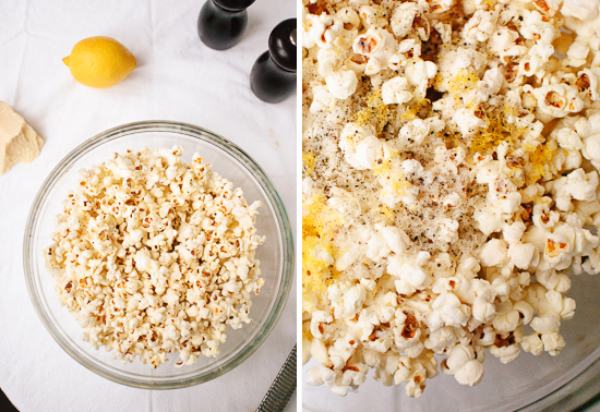 Lemon, Parmesan, and Black Pepper Popcorn