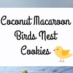Coconut Macaroon Birds Nest Cookies
