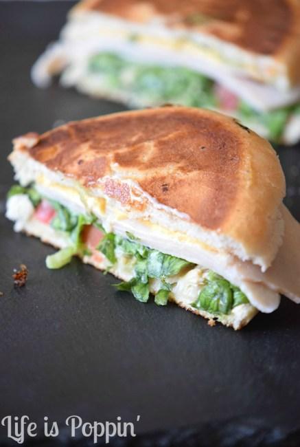 Ham & Cheddar melt sandwich