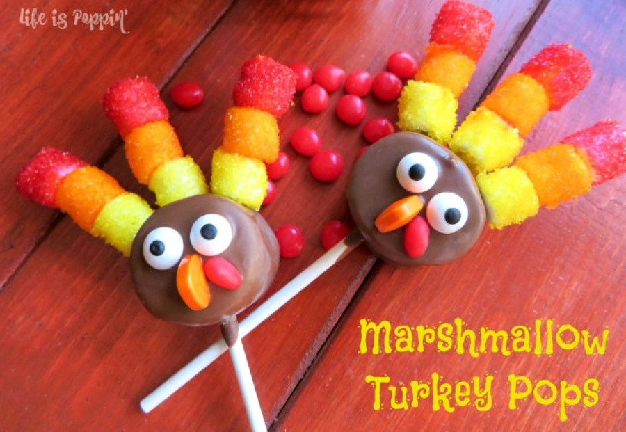 marshmallow-turkey-pops