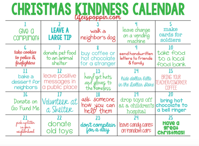 Christmas Kindness Printable