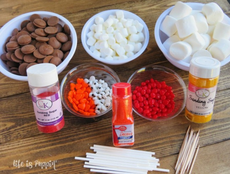 marshmallow-turkey-pops-ingredients