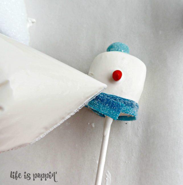 Snowman easy cake pops
