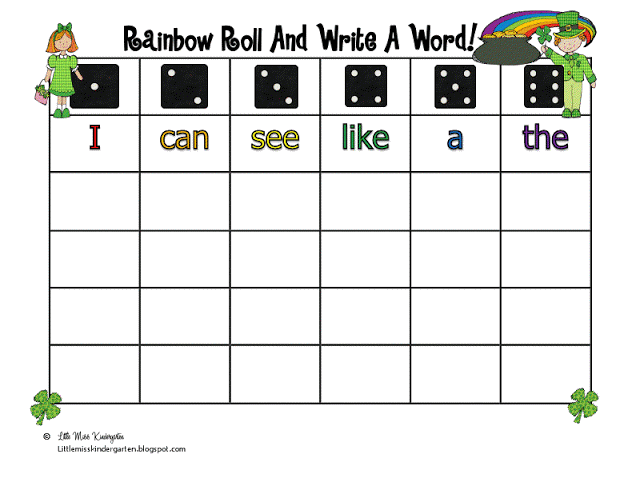 Rainbow Roll And Write A WOrd Pic