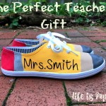 Teacher Gift Idea – Pencil Painted Canvas Shoes