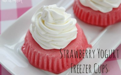 Easy Strawberry Yogurt Freezer Cups