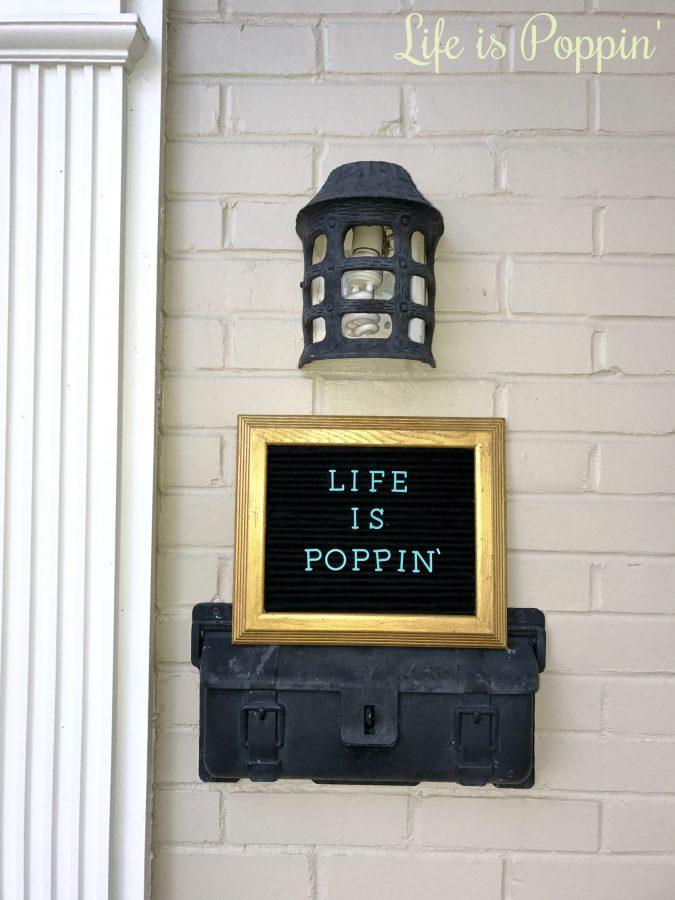 vintage-style felt letter board