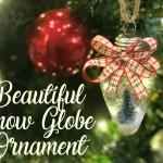 Easy Snow Globe Ornament