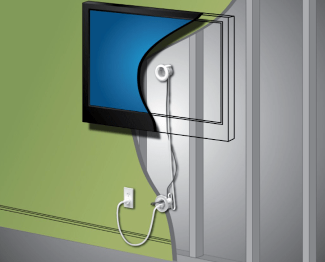 DIY: Hide Your TV's Messy Wires Behind the Wall