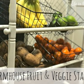 Upcycled Farmhouse Fruit and Veggie Stand DIY