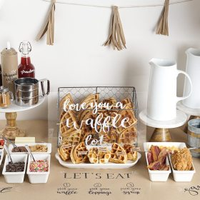 Waffle Bar Ideas with Recipes