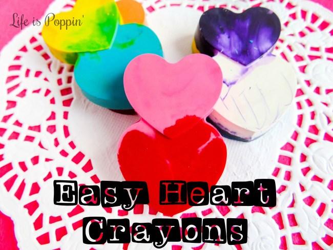 Broken Crayons: Easy Heart Crayons DIY