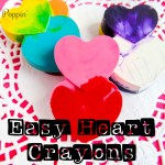 Broken Crayons: Easy Heart Crayons DIY