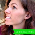 Daith Piercing for Migraines: Two Week Update