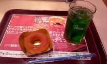 중간 휴식을 위해 들린 미스터 도넛.