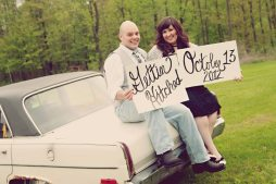Engagement Photo with Vintage Car | Life Is Sweet As A Peach