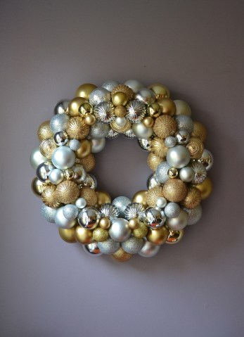 Gold and Silver Ornament Wreath Custom Etsy Order | Life Is Sweet As A Peach