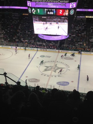 My first ever hockey game...which we lost