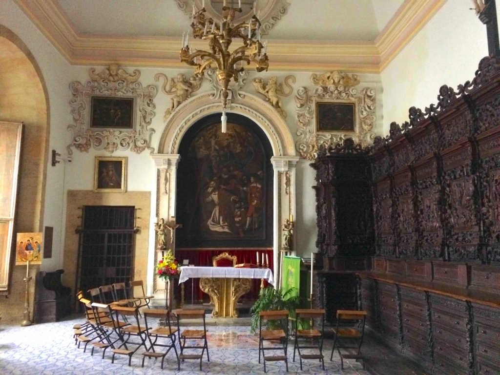 Ornately decorated room within a cathedral