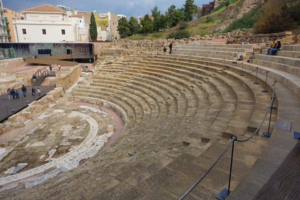 Old Roman theatre with seating for thousands of people